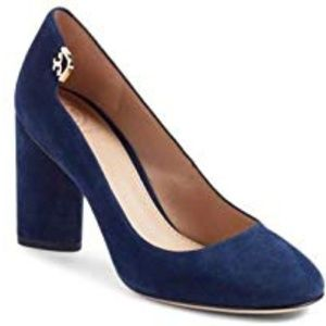 Tory Burch Elizabeth 85mm Round-Toe Pump Suede